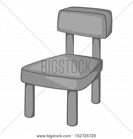 Chair icon. Gray monochrome illustration of chair vector icon for web