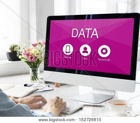 Data Website Network Application Concept