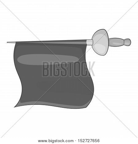 Fabric matador icon. Gray monochrome illustration of fabric matador vector icon for web