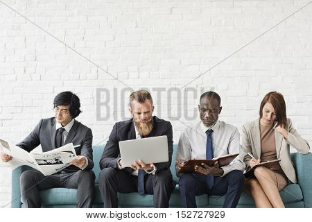 Business People Data Information Technology Concept