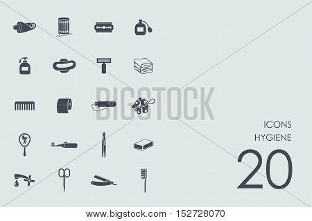 hygiene vector set of modern simple icons