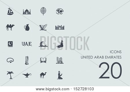 United Arab Emirates vector set of modern simple icons