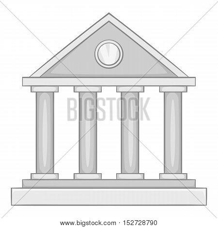 Roman colonnade icon. Gray monochrome illustration of roman colonnade vector icon for web