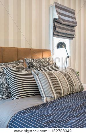 Black Modern Lamp Style On Table Side In Modern Bedroom