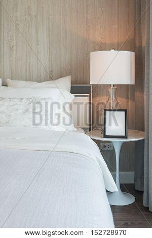 Modern White Color Tone Bedroom Design