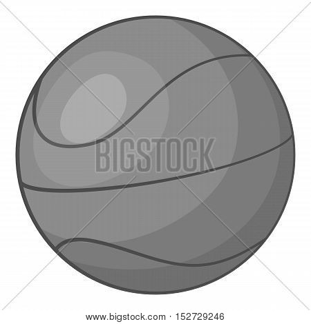 Basketball icon. Gray monochrome illustration of basketball vector icon for web