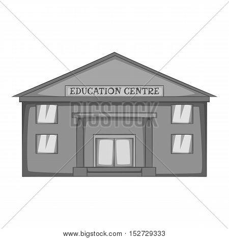 Education centre icon. Gray monochrome illustration of education centre vector icon for web