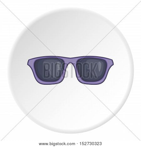 Summer glasses icon. Cartoon illustration of summer glasses vector icon for web