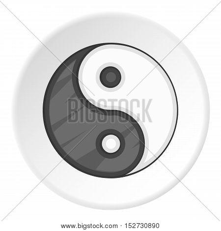 Yin Yang icon. Cartoon illustration of yin yang vector icon for web