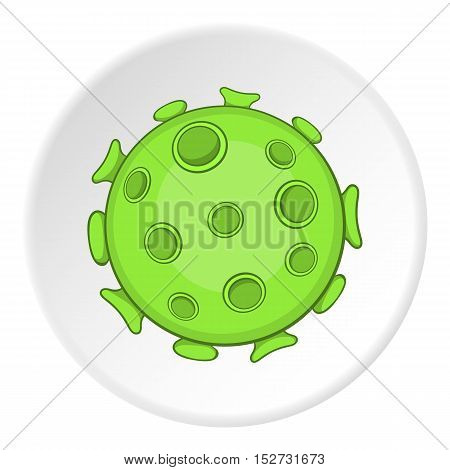 AIDS virus icon. Cartoon illustration of AIDS virus vector icon for web