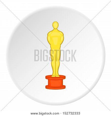 Gold award man icon. Cartoon illustration of gold award man vector icon for web