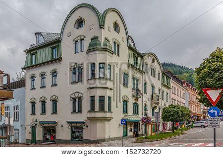 Street in Mariazell city center Styria Austria