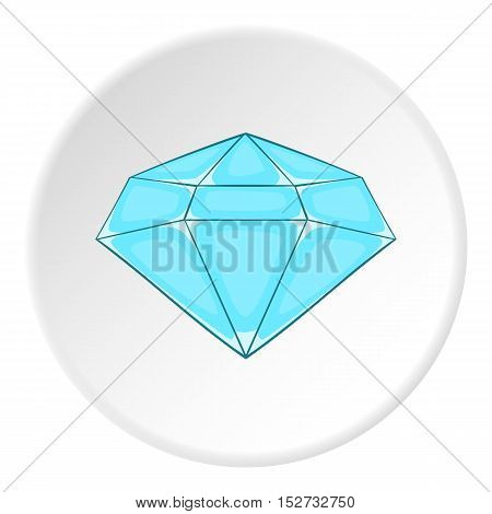 Polished diamond icon. Cartoon illustration of polished diamond vector icon for web