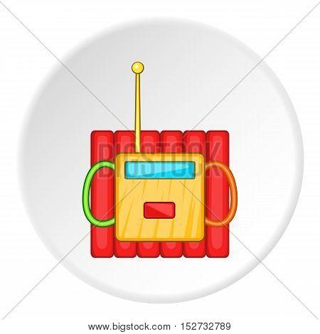 Dynamite explosives icon. Cartoon illustration of dynamite explosives vector icon for web