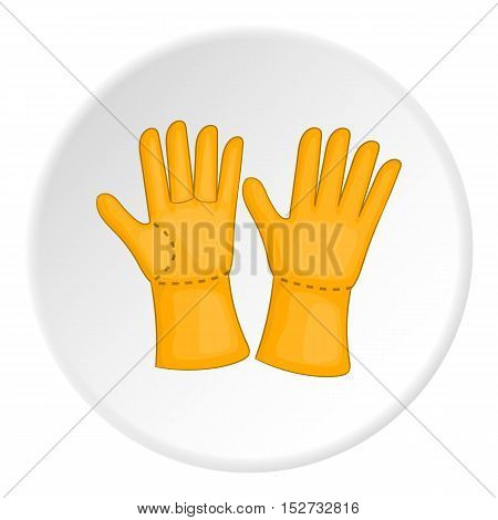 Rubber gloves icon. Cartoon illustration of rubber gloves vector icon for web