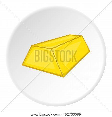 Gold ingot icon. Cartoon illustration of gold ingot vector icon for web