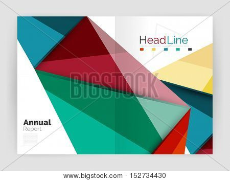 Low poly annual report template