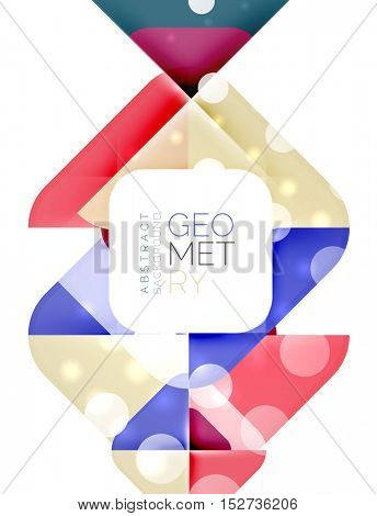 Glittering abstract geometric background