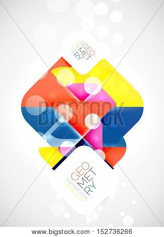 Modern square abstract background, color banner