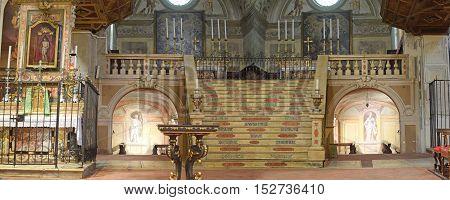 October 16 2016 - Church of St. Joseph-Brescia-Lombardia-Italy-The unique architecture of the Baroque Church of St. Joseph in the district of San Faustino in Brescia in Lombardy