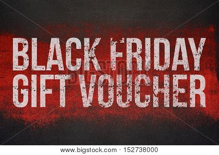 Black Friday Gift Voucher Design. Ready to use