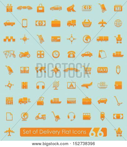 Set of delivery flat icons for Web and Mobile Applications