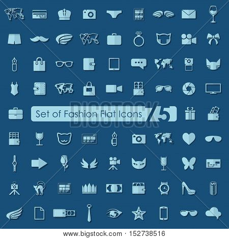 Set of fashion flat icons for Web and Mobile Applications