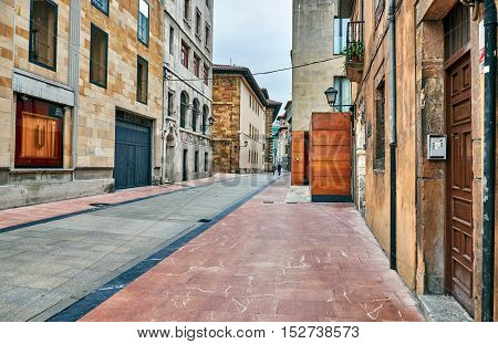 Neighborhoods of the old city of Oviedo on October 20, the date of the Princess of Asturias awards. spain