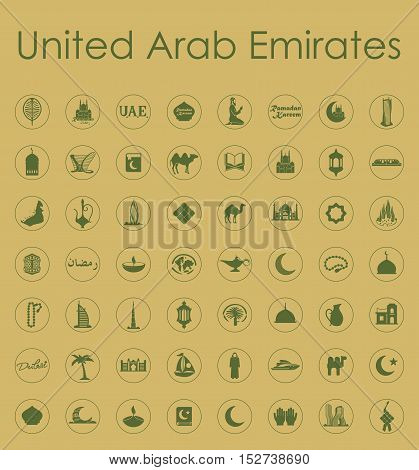 It is a set of United Arab Emirates simple web icons