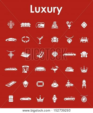 It is a set of luxury simple web icons