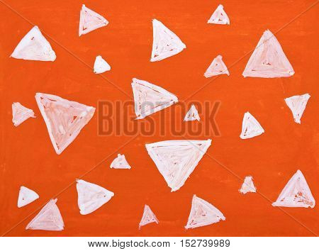 Abstract hand drawn water color triangle background