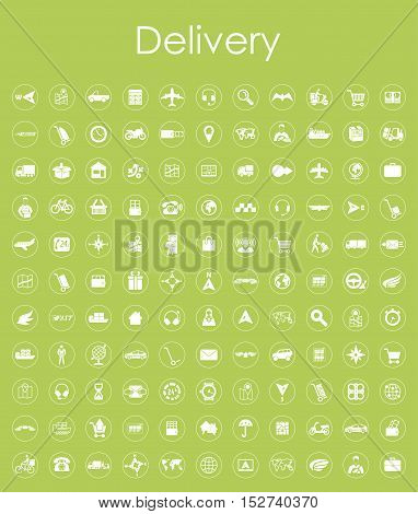 It is a set of delivery simple web icons