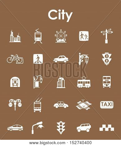 It is a set of city simple web icons