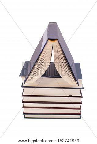 Books house isolated on a white background