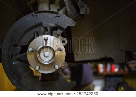 Braking system of machine in service station