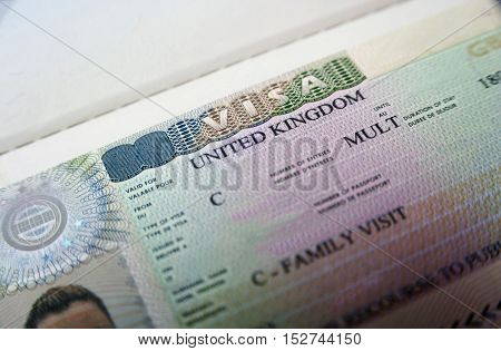 Passport With United Kingdom Visa