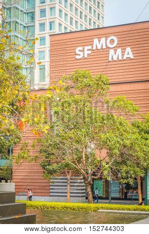 Sfmoma Entrance And Garden In Yerba Buena Gardens