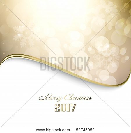 Magic Winter Holiday Christmas And New Year Golden Background With Twinkle And Stars