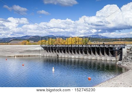 The Jackson Lake Dam in the Grand Teton National Park