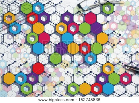 Geometric abstract background. Medicine science or technology concept