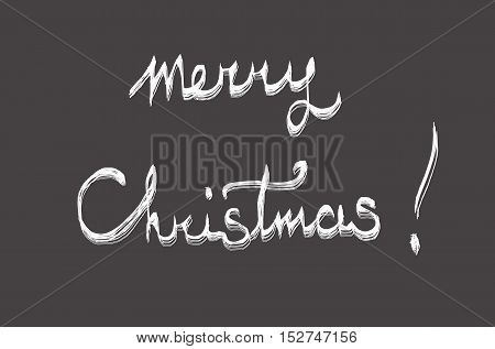 Merry Christmas white lettering on a grey background