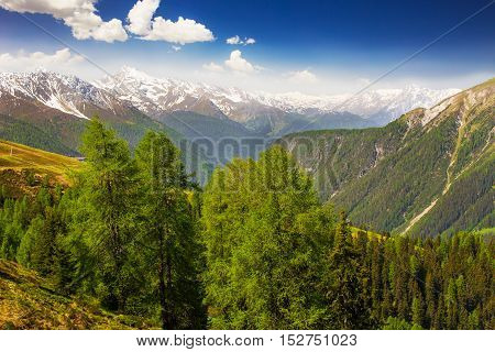 View To Swiss Alps From The Top Of  Rinerhorn Mountain, Davos, Swirzerland