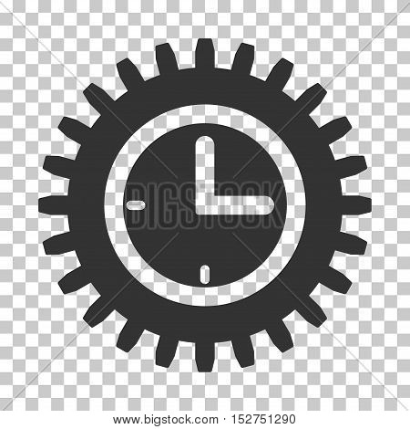 Gray Time Options toolbar icon. Vector pictograph style is a flat symbol on chess transparent background.