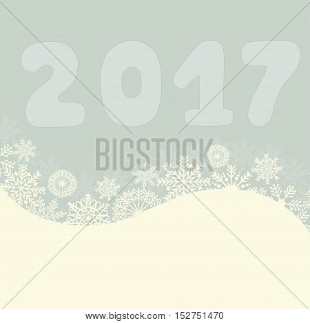 Christmas greeting card new year 2017 in vector