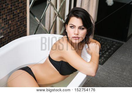 Beauty Taking A Bath