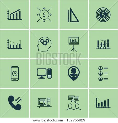 Set Of 16 Universal Editable Icons For Education, Computer Hardware And Airport Topics. Includes Ico