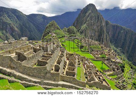 On the streets of Machu Picchu. Peru.