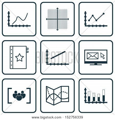 Set Of 9 Universal Editable Icons For Project Management, Statistics And Airport Topics. Includes Ic