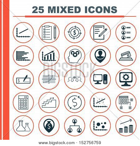 Set Of 25 Universal Editable Icons For Project Management, Seo And Human Resources Topics. Includes