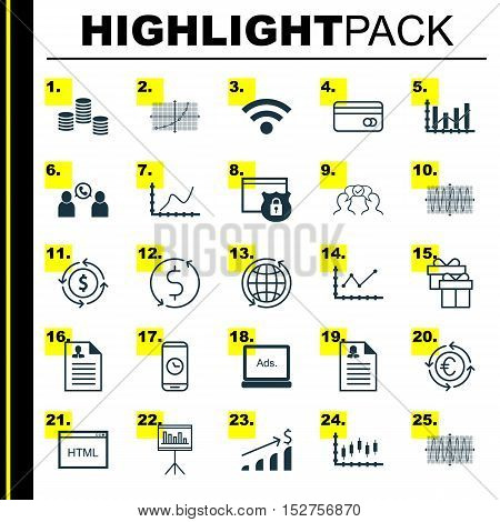 Set Of 25 Universal Editable Icons For Seo, Business Management And Project Management Topics. Inclu